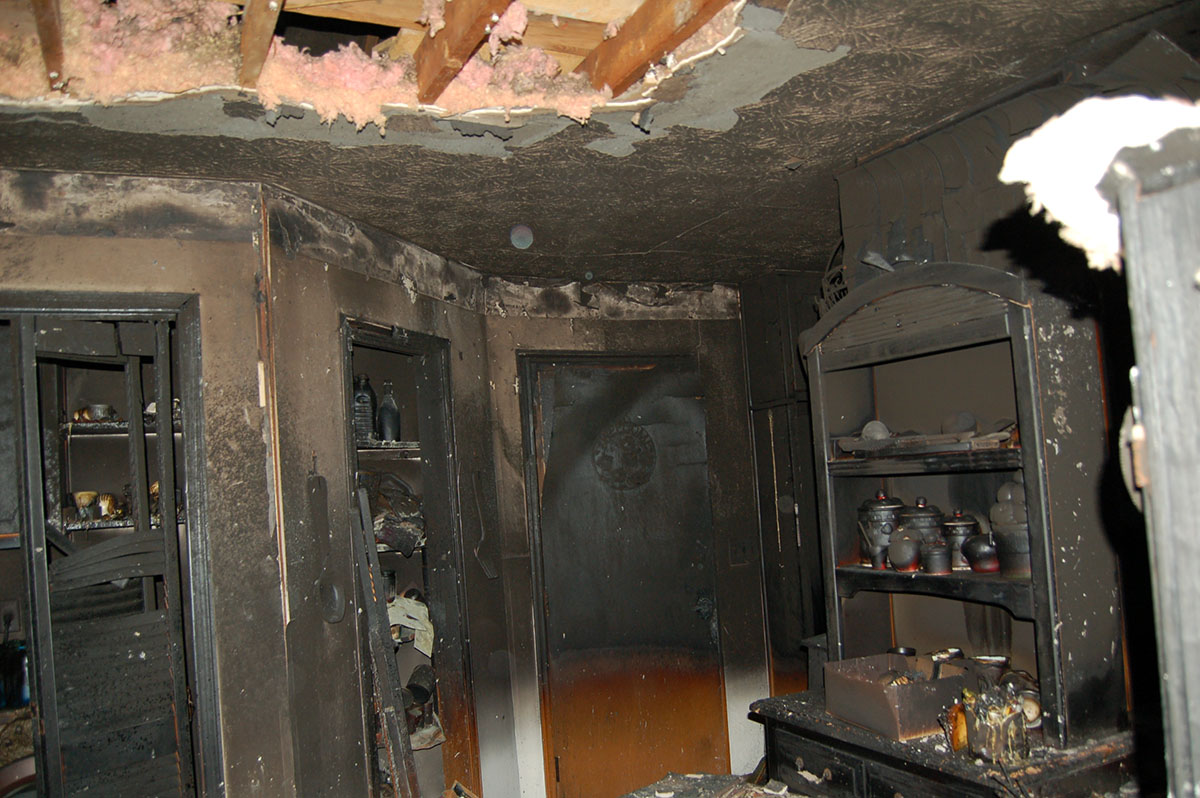inside house destroyed by fire